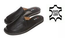 Herren Echtleder Leder HausSchuhe  Pantoffeln Latschen Schlappen Gr.40-46 #242#