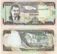 Jamaica 100 Dollars 2009 P-84d UNC Uncirculated Banknote - Waterfall