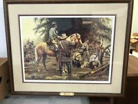 """Don Stivers """"The Truce"""" Collectable Civil War Print SIGNED AND NUMBERED- Framed"""
