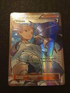 Pokemon card Winona trainers supporter 108/108 roaring skies rare full art