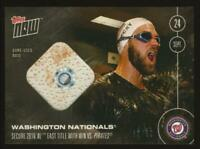 WASHINGTON NATIONALS (/w Bryce Harper) 2016 Topps NOW GU Base Relic #60/99 501-B