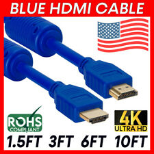 Blue 4K HDMI Cord HDR HDMI Cable ARC 3D Ethernet 18Gbps HD TV Laptop PC XBOX PS5