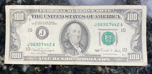 100 dollar bill 1990 Good Condition #10
