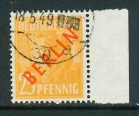 Berlin Mi-Nr. 27 gestempelt - Seitenrand / Bogenrand rechts