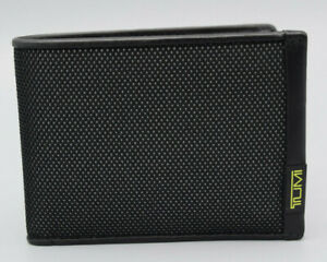 TUMI ALPHA SLG Double Billfold WALLET Reflective Bright Lime 0119233RBL NEW
