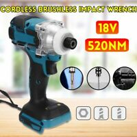 Rechargeable 18V 520N.m Cordless Electric Screwdriver Brushless Impact Wrench