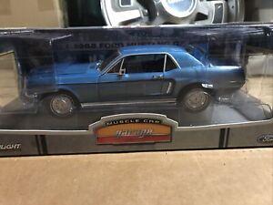 Greenlight - 1968 Ford Mustang GT Blue - 1:18