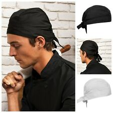 More details for chefs zandana preformed bandana headband head band scarf wrap kitchen staff cap