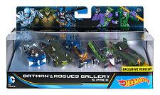 New Hot Wheels Batman & Rogues Gallery 5 Pack Mr Freeze Killer Croc Riddler Etc