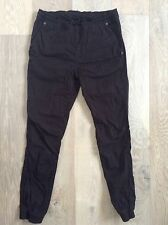Men's Black pants waist 82cm 100% Cotton AS NEW WORN ONCE drawstring Waist