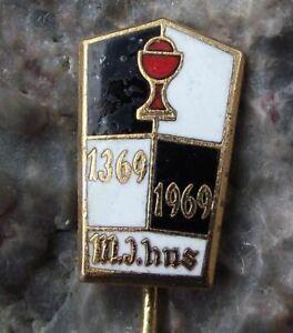 1969 Jan John Hus Huss Czech Hussite Philosopher 600th Anniversary Pin Badge