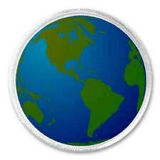 """Earth Globe Planet - 3"""" Circle Sew / Iron On Patch Environment Global Gift"""