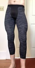 Men's Lululemon 3/4 Running Compression Tights - Medium, Multicolor Pre-Owned