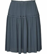 Reiss Ladies Skirt 10 Short Dali Plisse BNWT Grey Fine Pleated Work Evening £150