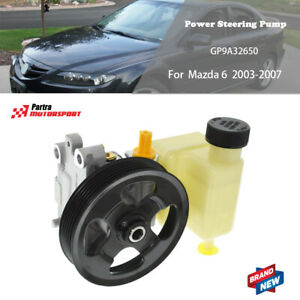 Power Steering Pump w/ Pulley w/ Reservoir GP9A32650 For 03-07 Mazda 6 L4 V6