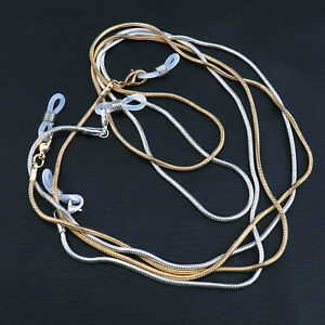 Glasses Spectacles Eyeglasses Silver Gold Chain Holder Necklace Strap Cord 2pcs