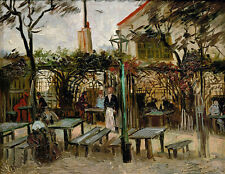 Vincent van Gogh canvas print Summer cafe 8.3X11.7 art reproduction giclee