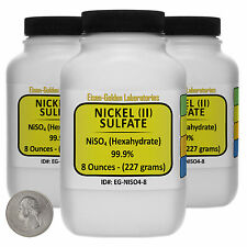 Nickel Sulfate [NiSO4] 99.9% ACS Grade Crystals 1.5 Lb in Three Bottles USA