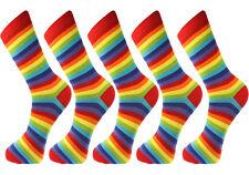 Mysocks 5 Pairs Men Socks Rainbow Stripes