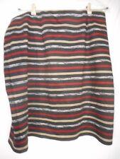 Roz & Ali Size 2x Black White Beige dark red unlined elastic waist Skirt