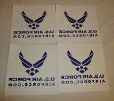 Lot of 4 US Air Force Stickers / Decals - USA Military Logo USAF Bumper Window