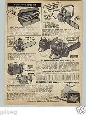 "1966 PAPER AD Clinton Chief 3.5 HP 26"" 20"" 16"" 14"" Bob Cat Chain Saw Vintage"