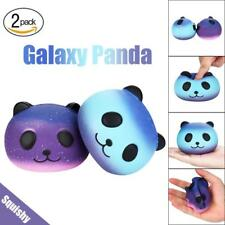 ANTI STRESS ANXIETY 2 SQUISHY CUTE GALAXY PANDA DOLLS SCENTED SLOW RISE TOY GIFT