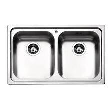 Lavello incasso Apell Venezia 79x50 con doppia vasca acciaio satinato in offerta