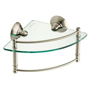 Delta Corner Shelf With Towel Bar, HEXTN16-BN