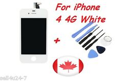 Replacement LCD Touch Screen Digitizer Glass Assembly for iPhone 4 4G White Tool