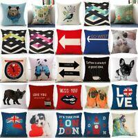 "18"" Fashion Throw Pillow Case Cotton Linen Cushion Cover Square Sofa Home Decor"