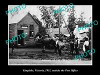OLD LARGE HISTORIC PHOTO OF KINGLAKE VICTORIA, VIEW OF THE POST OFFICE c1911