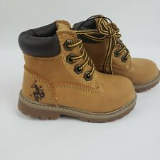 U.S. Polo Assn Boys Baby/Toddler 5M Owen-T Vegan Leather Boots