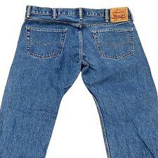 Levi's 505 - Men's Blue Denim Jeans - Regular Fit Straight 38x30
