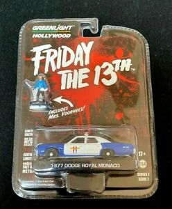 2014 HOLLYWOOD SERIES 7 FRIDAY THE 13TH 1977 DODGE MONACO INCLUDES MRS. VOORHEES