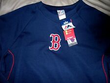 """BOSTON RED SOX EMB. COACH/PLAYERS """"MAJESTIC AUTHENTIC THERMABASE"""" JERSEY MENS SM"""