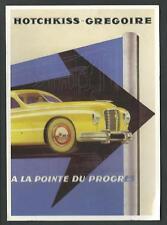 Hotchkiss - Gregoire : cartolina riproducente pubblicità d'epoca