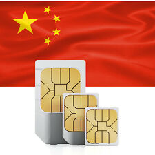 China (incl. Hongkong & Macao) Prepaid Daten SIM + 500 MB für 30 Tage