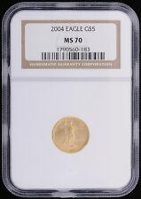 2004 4pc - Saint-Gaudens $5 $10 $25 $50 Set Gold Eagles NGC Certified MS 70