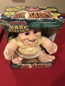 Vintage Dinosaurs TV Show Baby Sinclair Plush Hand Puppet - In Original Box.