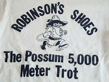 Vintage Robinson's Shoes The Possum 5,000 Meter Trot T Shirt S