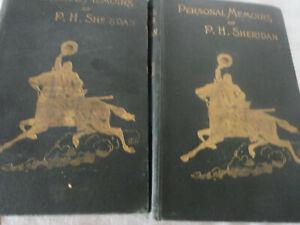 1888 PERSONAL MEMOIRS OF P.H. SHERIDAN 2 VOLS HC 1ST ED CIVIL WAR GEN.