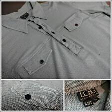 Men's BCBG Vintage Retro Casual Dress Short Sleeve Shirt L *Excellent Condition*