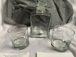 2000 Indianapolis 500 Speedway Brickyard 400 USGP F-1 Decanter, Glasses GiftCard