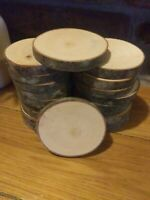 20 piece dry maple Log Slices Wood Disk Round Wedding Centerpiece Coaster slab