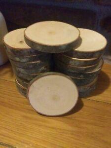 20 piece dry maple Log Slices Wood Disk Round Wedding Centerpiece Coaster slab