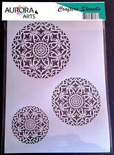 Stencil by Aurora Arts A4 Floral Holly corner set 190mic Mylar craft stencil 101
