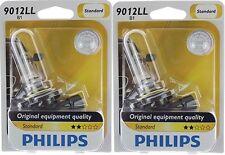 2x Authentic Philips 9012LL Long Life Headlight 9012 HIR2 Bright Light Bulb Fiat