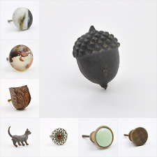 Brown Colour Coloured Knob, Pull, Handle, for Cupboards, Doors, Cabinets, Drawer