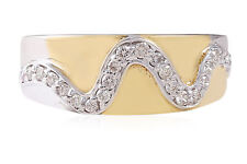 0.28 Cts Round Brilliant Cut Natural Diamonds Wedding Band Ring In Fine 18K Gold